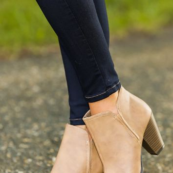 Kick Start Bootie-Taupe