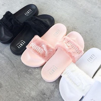Rihanna Fenty Fur Slipper shoes
