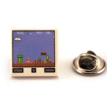 Retro game screen theme Tie Pin, Tie Tack Pin, Men's Tie Tacks, Tie Tac, Silver Tie Clip, Tie Clips Men, Wedding Clip, Tie Tack