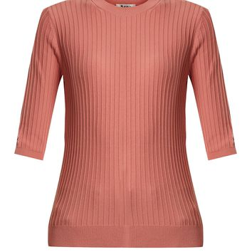 Iza ribbed-knit cotton-blend top | Acne Studios | MATCHESFASHION.COM UK