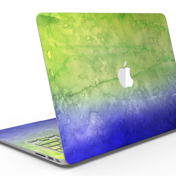 Blotted Blue 73 Absorbed Watercolor Texture - MacBook Air Skin Kit