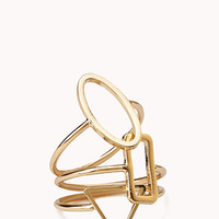 FOREVER 21 Subtle Geo Midi Rings Gold 4