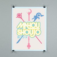 Magical Girl graphic design mahou shoujo kawaii print anime fan home decor