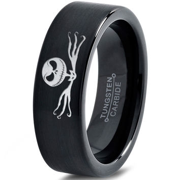 Nightmare Jack Skellington Black Tungsten Ring