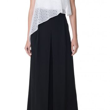 Tibi Silk Pleated Culottes