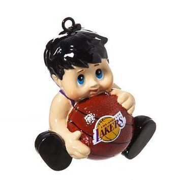 Licensed Los Angeles Lakers Official NBA Lil Fan Team Christmas Ornament Evergreen 165443 KO_19_1
