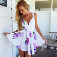 Sexy Floral Printed Dress