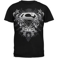 Superman - Man Of Steel Crest Youth T-Shirt