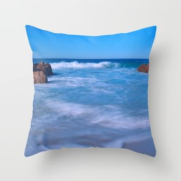 Baby Blues Throw Pillow by Leah Poquette