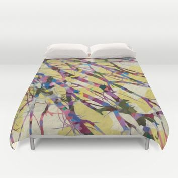 Confetti Branches Duvet Cover by Heidi Haakenson