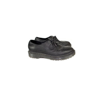 Dr Martens 3 Eye Oxfords Black Leather Shoes womens US 7 / 5 UK / 38 EU / us size 6 mens
