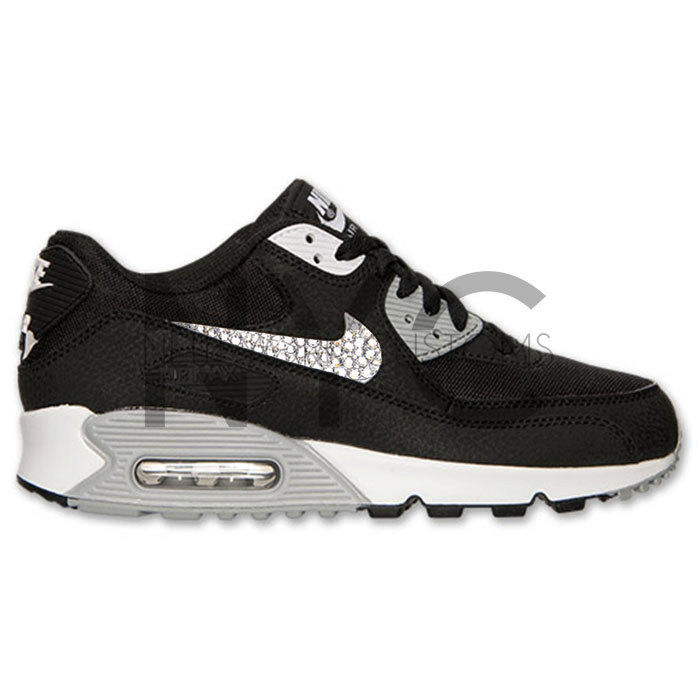 Black White Nike Air Max 90 Swarovski from NYCustoms on Etsy d56c32d1a9a9