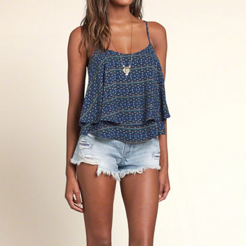 Patterned Tier Cami