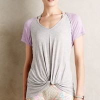 Tied Varsity Tee by Lost April Lilac