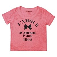 Juniors' L'Amour Graphic Crop Tee