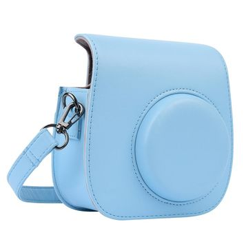 PU Leather Bag Protect Case Pouch With Strap For Fuji Fujifilm Instax Mini 8