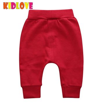 KIDLOVE Stylish Infant Baby Boy Girl Harem Pants Cute Solid Color Large PP Trousers Spring Autumn Wear Bloomers Long Pants ZK30