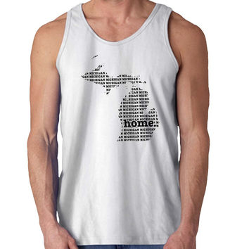 The Michigan Home For Mens Tank Top Fast Shipping For USA special christmas ***