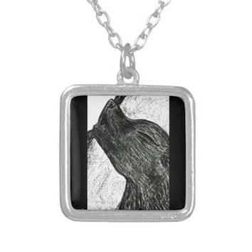 Little Wolfie Silver Plated Necklace