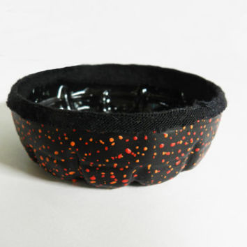 Small Plastic Bowl/Dish-Jewelry Dish- Desk Organizer-- Upcycled from Recycled Plastic