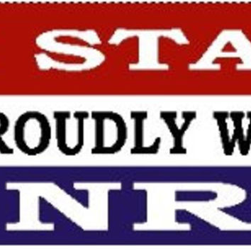 2- I stand proudly with the NRA Bumper Sticker- Gun Rights Bumper Sticker - (Two-Pack)
