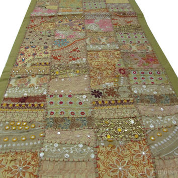 """60"""" Patchwork India WALL HANGING TAPESTRY Runner Beautiful Indian Vintage Decor Ethnic Decorative Art"""