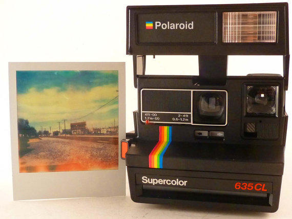 WORKING Supercolor Polaroid 635CL Instant Film Camera Impossible Film Project