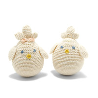 Organic Cotton Hand-knitted Chick Toy