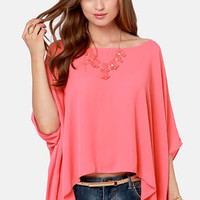 Square Necessities Coral Pink Top