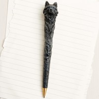Black and Grey Wolf Pen