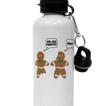 Funny Gingerbread Conversation Christmas Aluminum 600ml Water Bottle