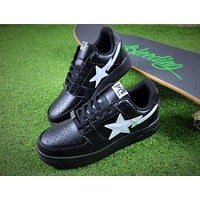 Bape Sta Sneakers Black White Shoes - Sale