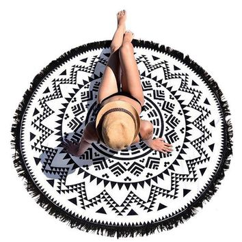 PEAP9GW Woweile bandana scarf Bohemian Round Hippie Tapestry Beach Throw Roundie Mandala Towel from india