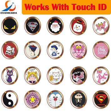 Cartoon cute Touch ID sensor Home Button Sticker For iPhone 5S SE 6 6S 7 8 Plus For Ipad air 2 mini 4 Fingerprint Keypad