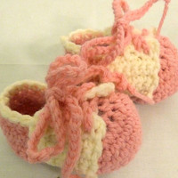 Baby Girl -Pink Saddle Oxford Crochet Shoes