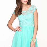 Lace Chiffon Skater Dress - LoveCulture