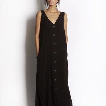 Oakley Button Front Maxi Dress