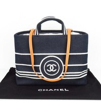 Used Chanel Denim A92240 Women's Denim Shoulder Bag,Handbag 1307