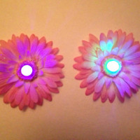 Light-up LED Daisy Pasties - EDC pair with Rainbow setting