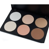 NSSTAR 6 Colors Foundation Makeup Palette Contour Face Powder Makeup Blush Palette