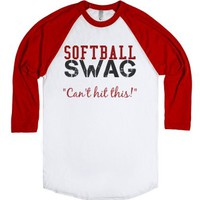 Softball SWAG-Unisex White/Red T-Shirt