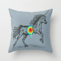Unicore II Throw Pillow by Rachel Caldwell