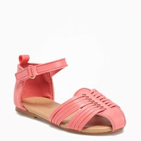 Faux-Leather Huaraches for Toddler Girls | Old Navy