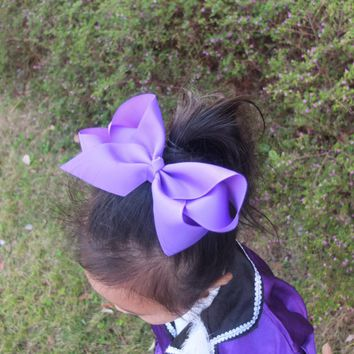 5 PCS 6 inch Extra large hair bow WITH clips Hairbow Hair clips Boutique Dancing bow Hairpins hairgrip Headwear Hair accessories