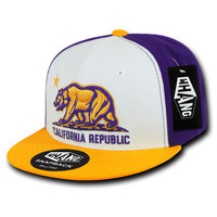California Republic LA Style Cali State Bear Flag Snapback Hat by Whang