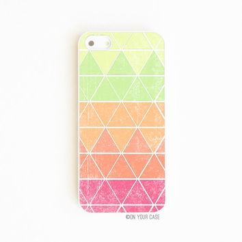 iPhone 5 Case iPhone 5s Case Neon Geometric