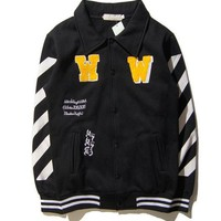 PEAPGZ9 OFF WHITE Sports On Sale Hot Deal Couple Jacket Baseball [11501028364]
