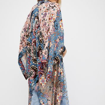 Free People Little Wing Mix Print Kimono