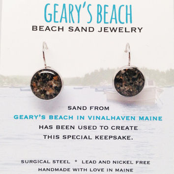 Geary's Beach Sand Jewelry, Vinalhaven Maine Sand Jewelry, Beach Sand Jewelry, Sand Jewelry, Summer, One of a Kind Gift, Made in Maine