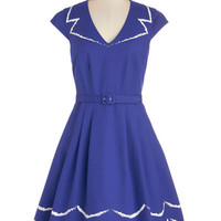 Bea & Dot Vintage Inspired Mid-length Cap Sleeves A-line Oslo and Behold Dress